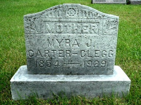 CLEGG, MYRA J - Calhoun County, Michigan | MYRA J CLEGG - Michigan Gravestone Photos