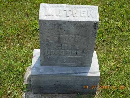 COLE, LAMORA - Calhoun County, Michigan | LAMORA COLE - Michigan Gravestone Photos