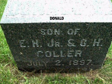 COLLER, DONALD - Calhoun County, Michigan | DONALD COLLER - Michigan Gravestone Photos