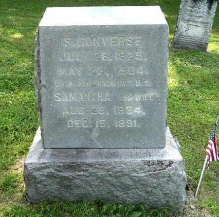 CONVERSE, SAMANTHA - Calhoun County, Michigan | SAMANTHA CONVERSE - Michigan Gravestone Photos