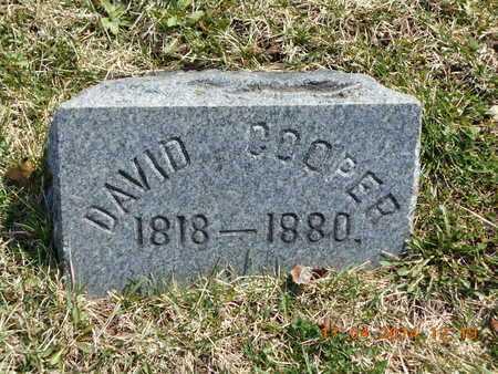 COOPER, DAVID - Calhoun County, Michigan | DAVID COOPER - Michigan Gravestone Photos