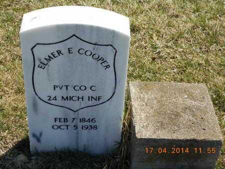 COOPER, ELMER E. - Calhoun County, Michigan   ELMER E. COOPER - Michigan Gravestone Photos
