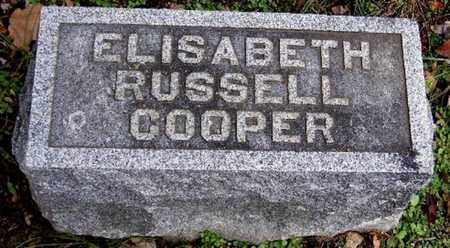 COOPER, ELISABETH - Calhoun County, Michigan | ELISABETH COOPER - Michigan Gravestone Photos