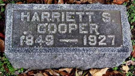 COOPER, HARRIETT S - Calhoun County, Michigan | HARRIETT S COOPER - Michigan Gravestone Photos