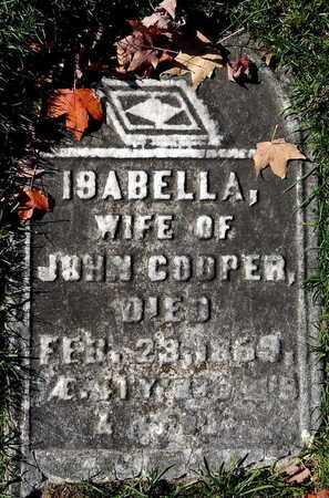 COOPER, ISABELLA - Calhoun County, Michigan   ISABELLA COOPER - Michigan Gravestone Photos