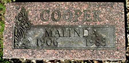 COOPER, MALINDA - Calhoun County, Michigan | MALINDA COOPER - Michigan Gravestone Photos