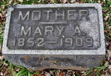 COOPER, MARY A - Calhoun County, Michigan | MARY A COOPER - Michigan Gravestone Photos