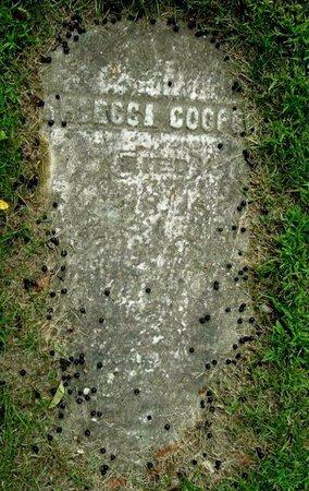 COOPER, REBECCA - Calhoun County, Michigan | REBECCA COOPER - Michigan Gravestone Photos