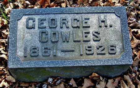 COWLES, GEORGE H - Calhoun County, Michigan | GEORGE H COWLES - Michigan Gravestone Photos
