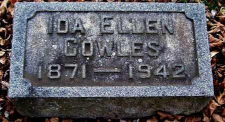COWLES, IDA ELLEN - Calhoun County, Michigan   IDA ELLEN COWLES - Michigan Gravestone Photos