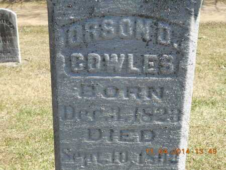 COWLES, ORSON D. - Calhoun County, Michigan | ORSON D. COWLES - Michigan Gravestone Photos