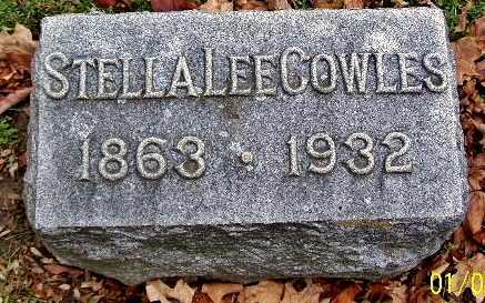 COWLES, STELLA - Calhoun County, Michigan | STELLA COWLES - Michigan Gravestone Photos