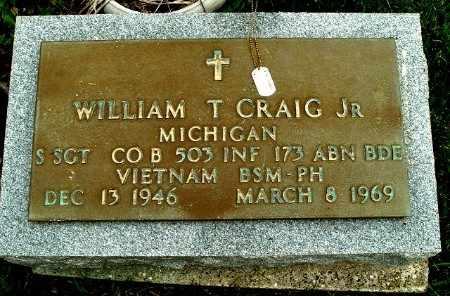 CRAIG, WILLIAM T. JR - Calhoun County, Michigan | WILLIAM T. JR CRAIG - Michigan Gravestone Photos