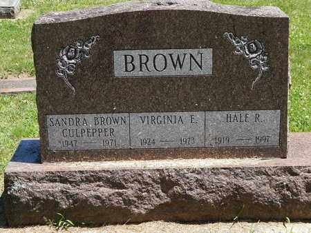 BROWN, VIRGINIA - Calhoun County, Michigan | VIRGINIA BROWN - Michigan Gravestone Photos