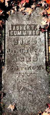 CUMMINGS, ASHER T - Calhoun County, Michigan   ASHER T CUMMINGS - Michigan Gravestone Photos