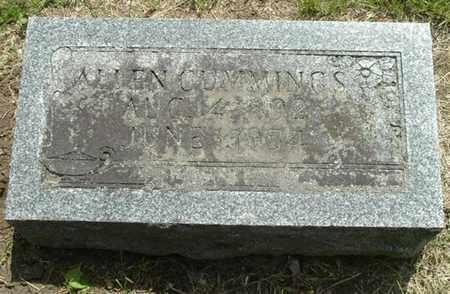 CUMMINGS, ALLEN - Calhoun County, Michigan | ALLEN CUMMINGS - Michigan Gravestone Photos