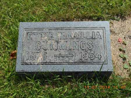 CUMMINGS, ETTA MARILLA - Calhoun County, Michigan | ETTA MARILLA CUMMINGS - Michigan Gravestone Photos