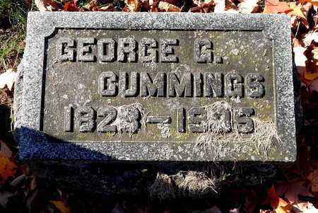 CUMMINGS, GEORGE G - Calhoun County, Michigan | GEORGE G CUMMINGS - Michigan Gravestone Photos
