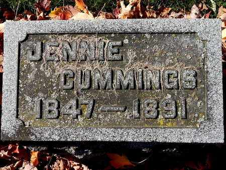 CUMMINGS, JENNIE - Calhoun County, Michigan | JENNIE CUMMINGS - Michigan Gravestone Photos