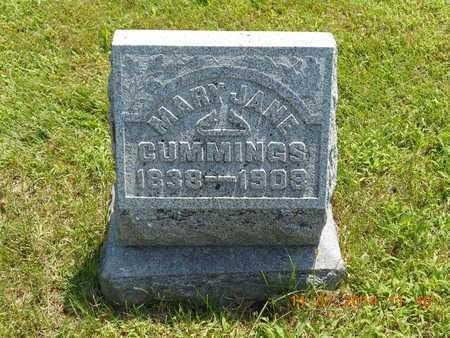 CUMMINGS, MARY JANE - Calhoun County, Michigan   MARY JANE CUMMINGS - Michigan Gravestone Photos