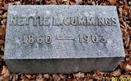 CUMMINGS, NETTIE L - Calhoun County, Michigan | NETTIE L CUMMINGS - Michigan Gravestone Photos