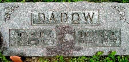 DADOW, DONALD A - Calhoun County, Michigan | DONALD A DADOW - Michigan Gravestone Photos