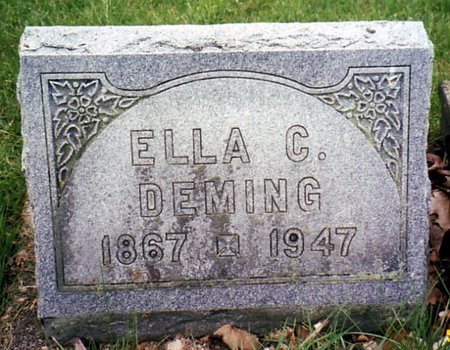DEMING, ELLA - Calhoun County, Michigan | ELLA DEMING - Michigan Gravestone Photos