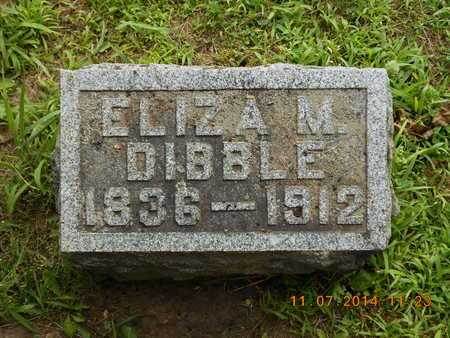 DIBBLE, ELIZA M. - Calhoun County, Michigan   ELIZA M. DIBBLE - Michigan Gravestone Photos