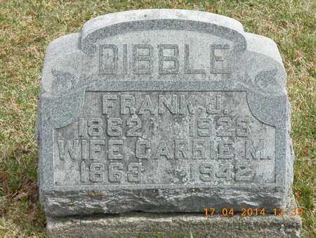 DIBBLE, FRANK J. - Calhoun County, Michigan | FRANK J. DIBBLE - Michigan Gravestone Photos
