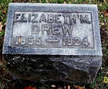DREW, ELIZABETH M - Calhoun County, Michigan | ELIZABETH M DREW - Michigan Gravestone Photos