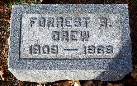 DREW, FORREST S - Calhoun County, Michigan   FORREST S DREW - Michigan Gravestone Photos