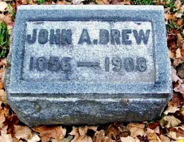 DREW, JOHN A - Calhoun County, Michigan | JOHN A DREW - Michigan Gravestone Photos