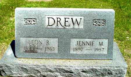 DREW, JENNIE M - Calhoun County, Michigan | JENNIE M DREW - Michigan Gravestone Photos