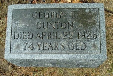 DUNTON, GEORGE E. - Calhoun County, Michigan | GEORGE E. DUNTON - Michigan Gravestone Photos