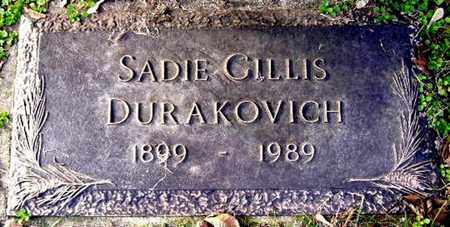 DURAKOVICH, SADIE - Calhoun County, Michigan | SADIE DURAKOVICH - Michigan Gravestone Photos