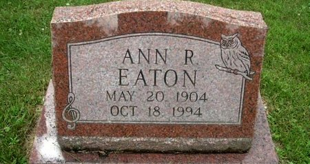 EATON, ANN R - Calhoun County, Michigan | ANN R EATON - Michigan Gravestone Photos