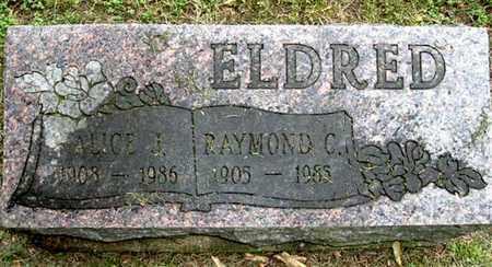 ELDRED, ALICE L - Calhoun County, Michigan   ALICE L ELDRED - Michigan Gravestone Photos