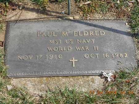 ELDRED, PAUL M. - Calhoun County, Michigan | PAUL M. ELDRED - Michigan Gravestone Photos