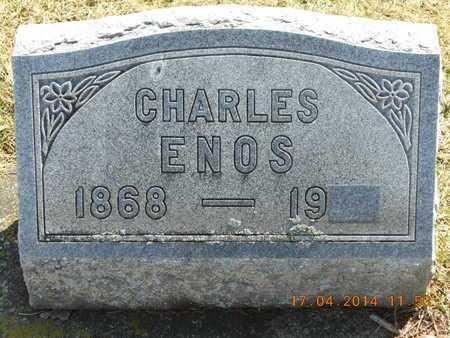 ENOS, CHARLES - Calhoun County, Michigan | CHARLES ENOS - Michigan Gravestone Photos