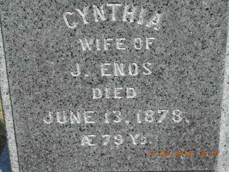 ENOS, CYNTHIA - Calhoun County, Michigan | CYNTHIA ENOS - Michigan Gravestone Photos