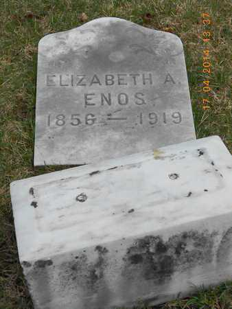 ENOS, ELIZABETH A. - Calhoun County, Michigan | ELIZABETH A. ENOS - Michigan Gravestone Photos