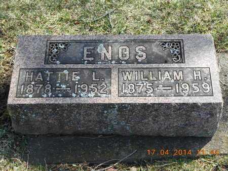 ENOS, WILLIAM H. - Calhoun County, Michigan | WILLIAM H. ENOS - Michigan Gravestone Photos