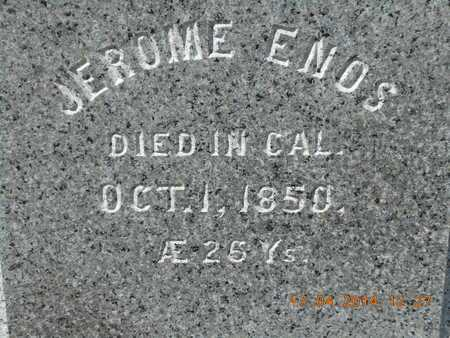 ENOS, JEROME - Calhoun County, Michigan | JEROME ENOS - Michigan Gravestone Photos