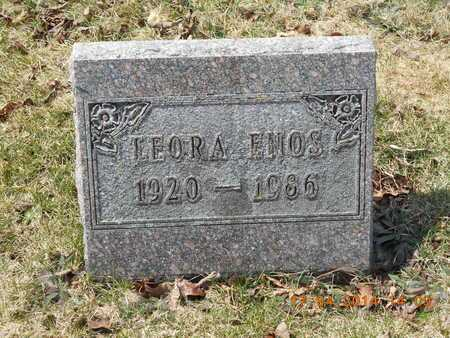 ENOS, LEORA - Calhoun County, Michigan | LEORA ENOS - Michigan Gravestone Photos