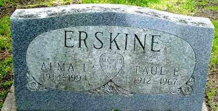 ERSKINE, PAUL E - Calhoun County, Michigan | PAUL E ERSKINE - Michigan Gravestone Photos