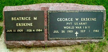ERSKINE, BEATRICE M - Calhoun County, Michigan | BEATRICE M ERSKINE - Michigan Gravestone Photos