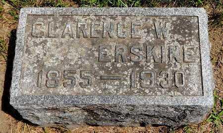 ERSKINE, CLARENCE W - Calhoun County, Michigan | CLARENCE W ERSKINE - Michigan Gravestone Photos