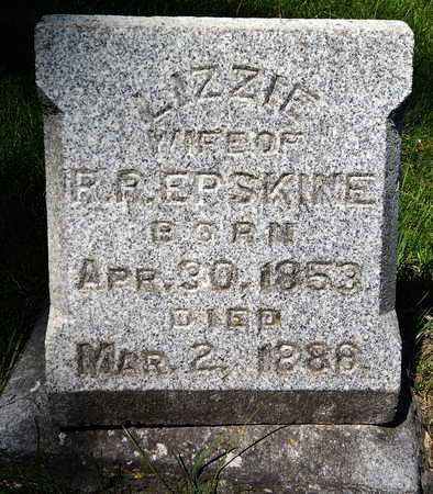 ERSKINE, E. LIZZIE - Calhoun County, Michigan   E. LIZZIE ERSKINE - Michigan Gravestone Photos