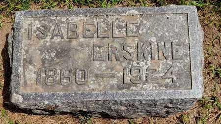 ERSKINE, ISABELLE - Calhoun County, Michigan | ISABELLE ERSKINE - Michigan Gravestone Photos
