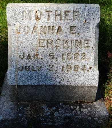 ERSKINE, JOANNA E - Calhoun County, Michigan | JOANNA E ERSKINE - Michigan Gravestone Photos